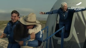 Wally Funk, female aviation pioneer, becomes oldest person in space at 82