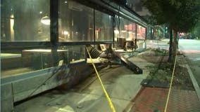 Police: Driver crashes into Atlanta restaurant, charged with DUI