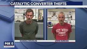 2 suspected of stealing catalytic converters arrested during traffic stop in Coweta County