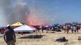 Fireworks unintentionally explode on Ocean City beach before planned celebration
