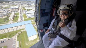 Florida Naval station flies widow in helicopter around her husband's namesake ship for her 100th birthday