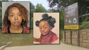 Toddler's body found in Chattahoochee linked to arrested woman, police say