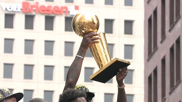 Milwaukee Bucks championship parade; fans turn out by thousands