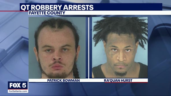 Two arrested in connection to armed robbery at Fayette County gas station
