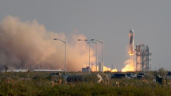 Blue Origin launches Jeff Bezos into space on company's 1st human flight