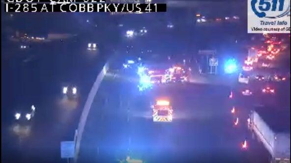 Fatal wreck investigation shuts down I-285 near Cobb Parkway