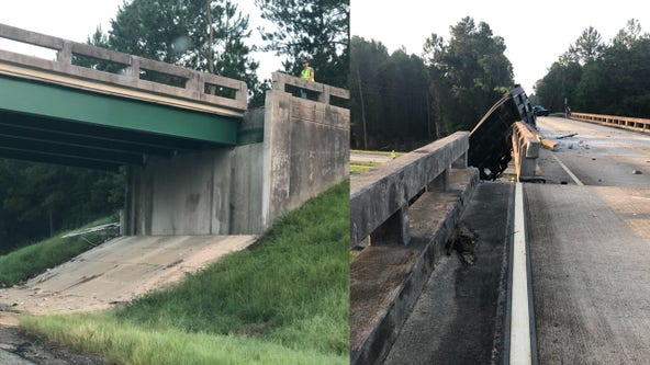Georgia interstate shut down after crash shifts bridge 6 feet