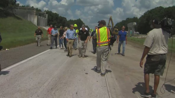Georgia interstate fully reopens, damaged overpass removed