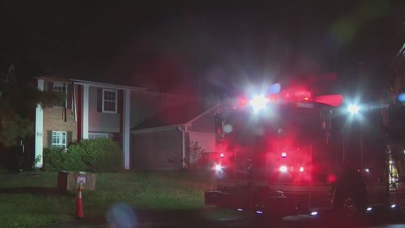Lightning strike sets DeKalb County house on fire