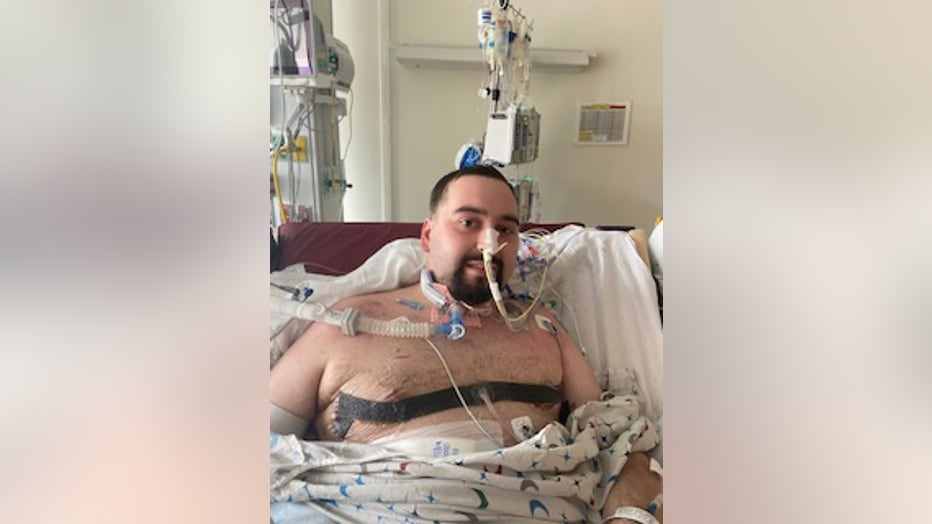 Younger man in ICU bed