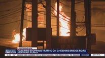 Gas fire shuts down traffic on Cheshire Bridge Road