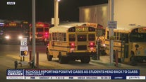 Schools reporting positive cases as students head back to class