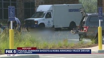 Gunman shoots, robs armored truck driver, police say