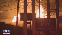Gas line fire along Cheshire Bridge Road