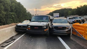 Three vehicles crash trying to exit I-285 at the same time, police say