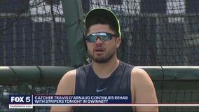 Travis d'Arnaud rehabbing with Gwinnett Stripers, nearing return for Braves