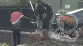 Atlanta police officer's act of kindness to homeless man caught on camera