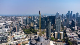 Video shows dizzying installation of new Panocam atop Space Needle's spire
