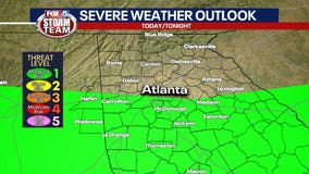 Severe weather possible south of I-20 on Sunday afternoon, evening