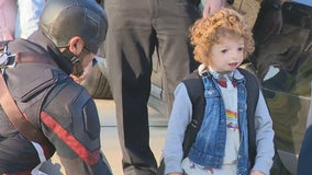 Midlothian boy born with rare condition gets a special escort on his first day of kindergarten