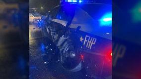 Tesla on auto-pilot crashes into FHP patrol car