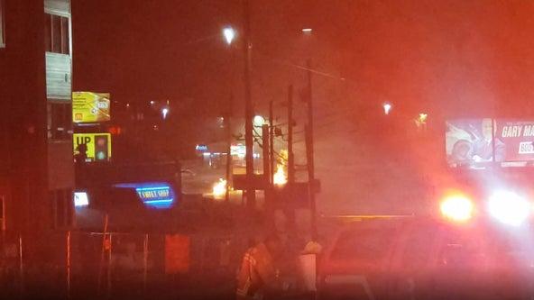 Cheshire Bridge Road remains closed, gas leak repaired