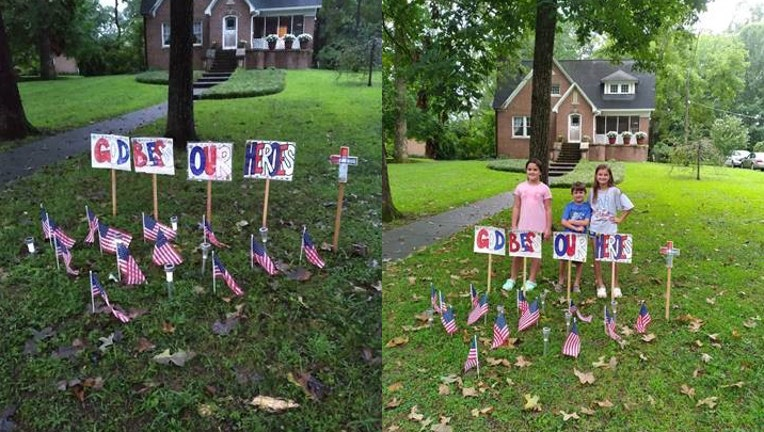 Cedartown children tribute to airport attack