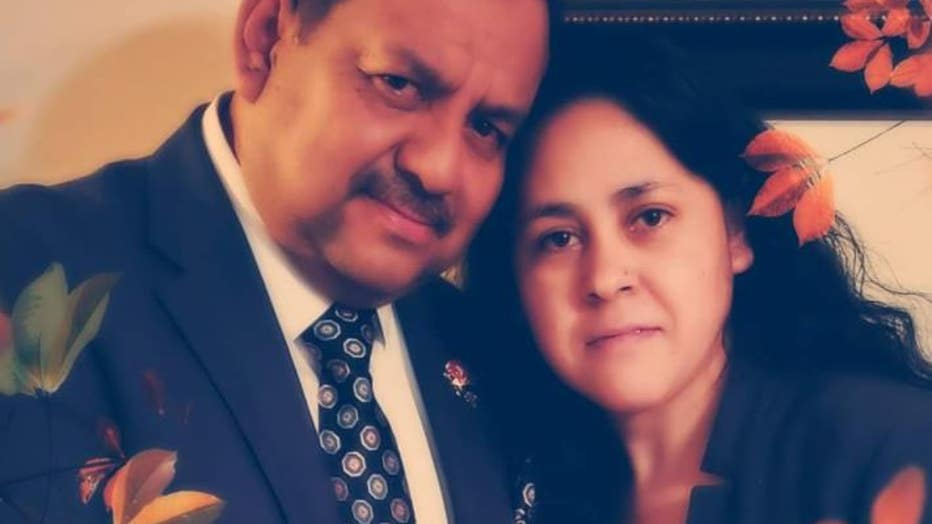 Febe Santos (right) died in an early morning house fire at her home in Gwinnett County, officials said (Photo: Family).