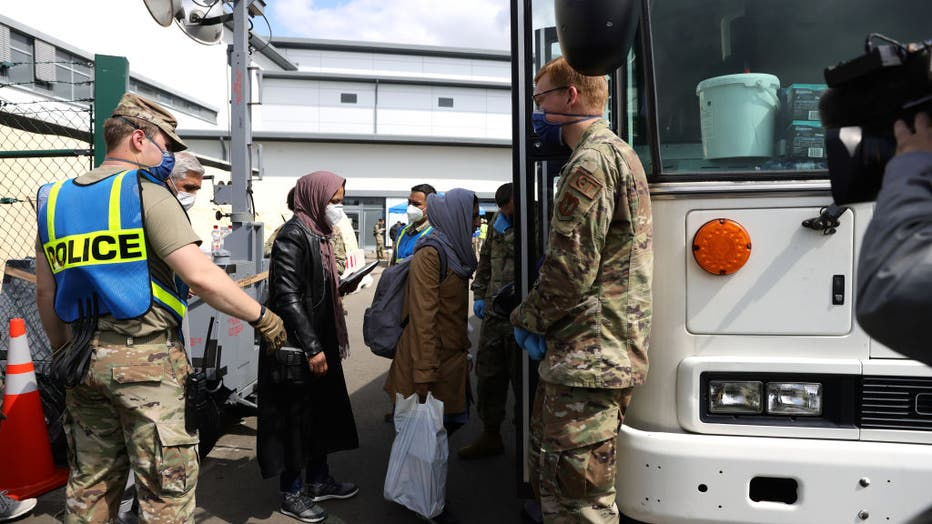 Kabul Evacuees Continue To Arrive At Ramstein Air Base