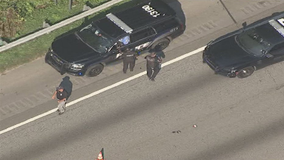 Conyers police and other agencies were involved in a chase with a stolen mortuary van on I-20 W (SKY FOX 5).