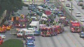 Major wreck closes southbound lanes on I-285 in DeKalb County