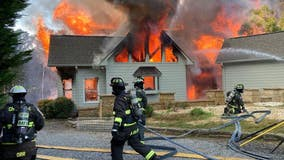 Quickly-spreading fire destroys Cherokee County home