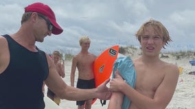 Woodstock teen bit by shark while surfing in Florida