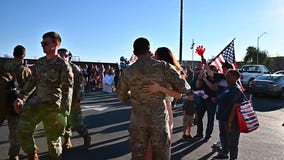 US airmen welcomed home after helping with Afghanistan evacuations
