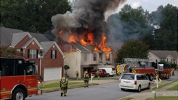 Lawrenceville fire destroys home, damages two others