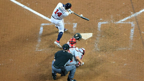 Braves survive scary ninth inning, hold off Phillies 2-1