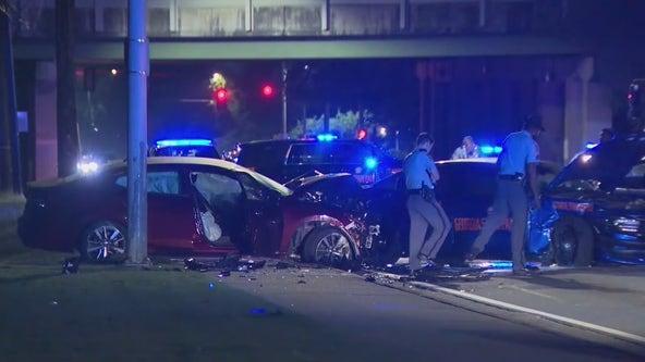 Georgia State Patrol trooper injured in wreck on MLK Drive