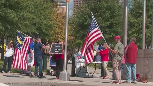 'Justice for January 6th Rally' held at Georgia state capitol