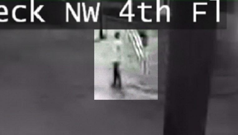 Surveillance images released by Dalton police show a skateboarder and three cars in the parking deck next to the Whitfield County Courthouse during the early morning hours of Sept. 11, 2021.