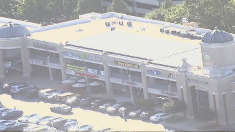 Police say an SUV stolen from the The Peach shopping center on Sept. 24, 2021 has a young child inside. The SUV has since been recovered and the child was unharmed.