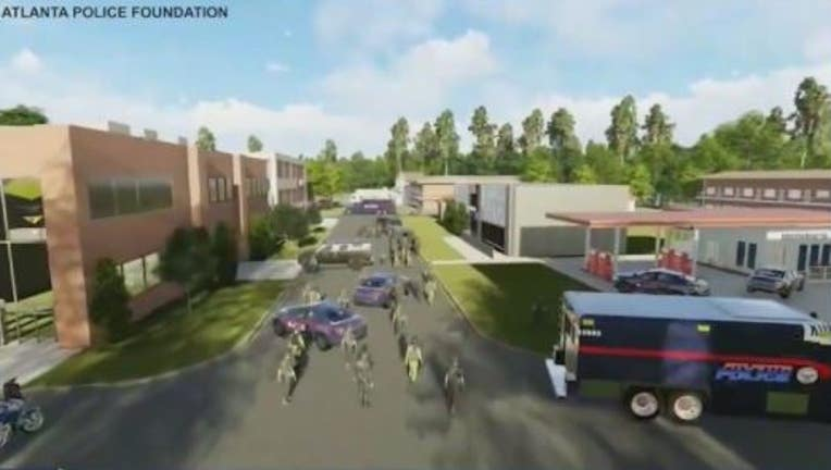 Rendering of proposed training facility for police and first responders in part of Atlanta located in DeKalb County.