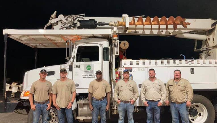 A photo from Sumter EMC in Americus, which is sending a crew to Louisiana.