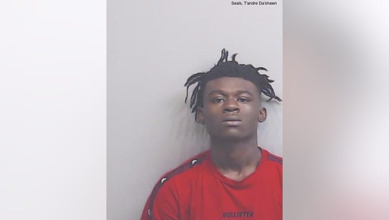 T'andre Seals turned himself in to Atlanta police in connection to a series of robberies involving the LGBTO dating app Grinder (Fulton County Jail).