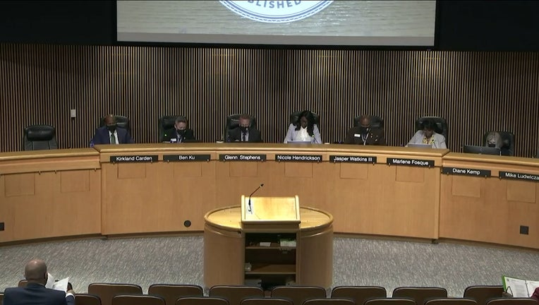 The Gwinnett County Board of Commissioners during their meeting on Sept. 21, 2021.