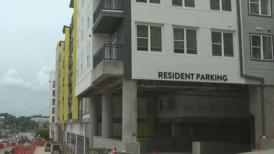 Apartment complex for students under construction