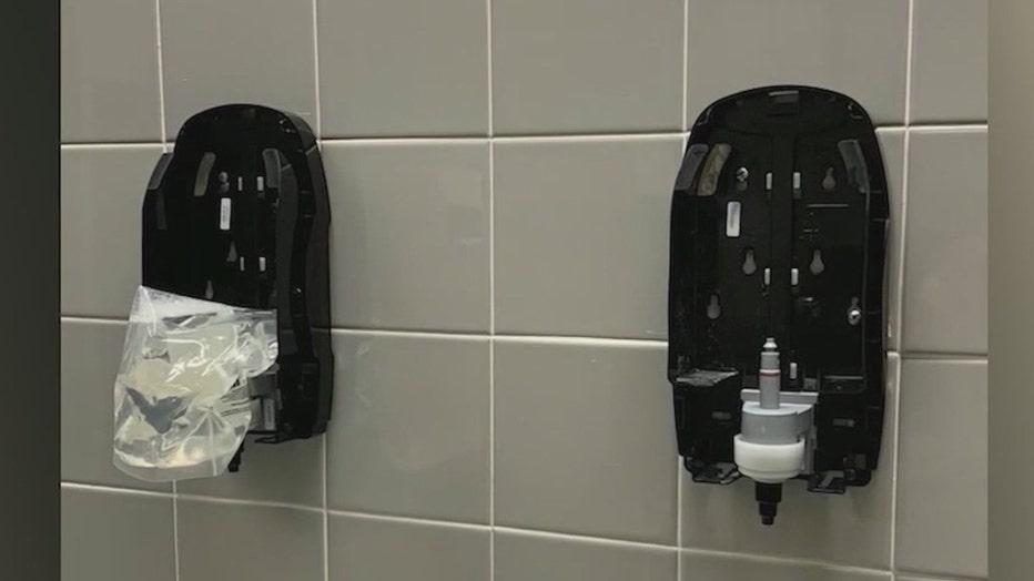 soap dispensers damaged due to tiktok trend