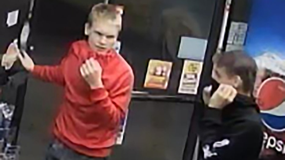 Police released this image of two suspects wanted for breaking into a McDonough gas station on Sept. 12, 2021.