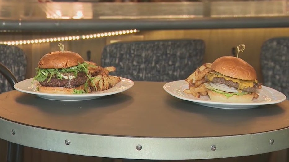 The Lamb Burger (left) and The Classic (right) from The Select in Sandy Springs.