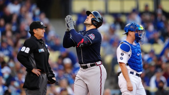 Braves beat Dodgers 9-2, one win away from World Series