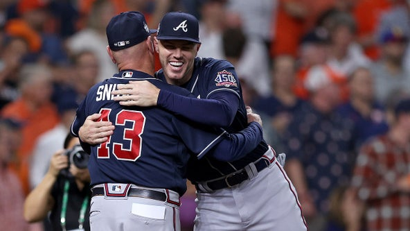 Soler homers in first swing of World Series, Braves lead Astros 2-0